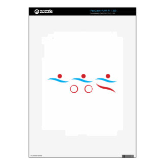 Triathlon modern cool logo iPad 2 decals