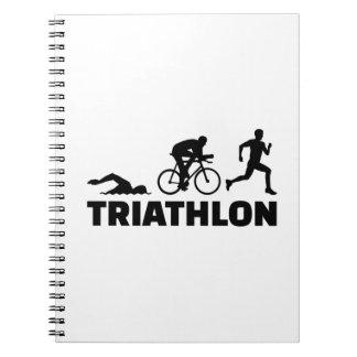 Triathlon Spiral Notebook