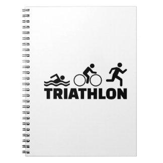Triathlon Spiral Notebooks