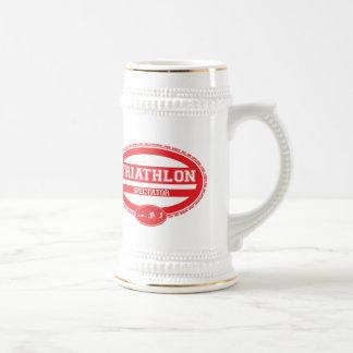 Triathlon Oval 18 Oz Beer Stein