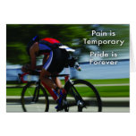 Triathlon - Pain is Temporary Greeting Cards