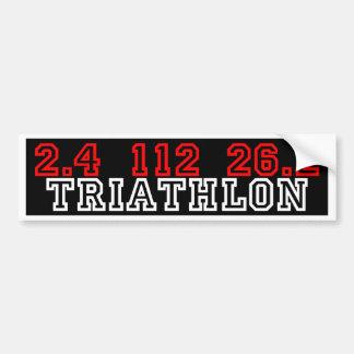 Triathlon Pegatina Para Auto