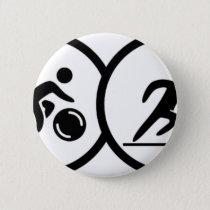triathlon pinback button