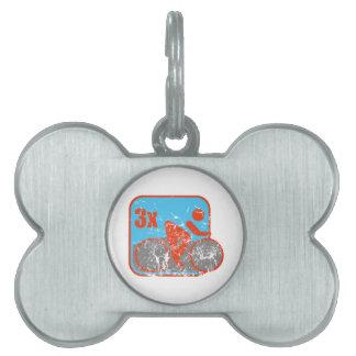 Triathlon Placas De Nombre De Mascota