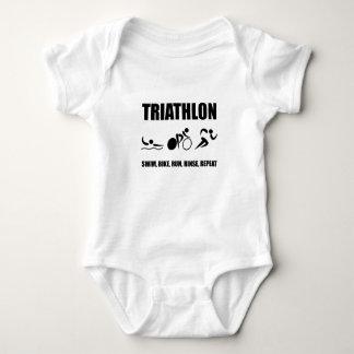 Triathlon Rinse Repeat Baby Bodysuit