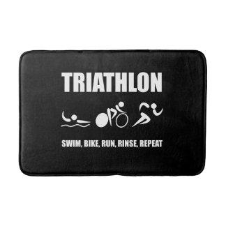 Triathlon Rinse Repeat Bathroom Mat