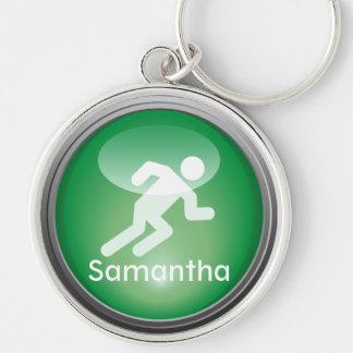 Triathlon RUN Customized Keychain