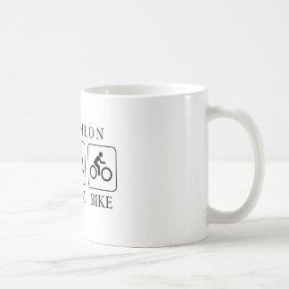 Triathlon run, swim and bike coffee mug