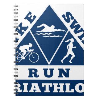 triathlon run swim bike note book