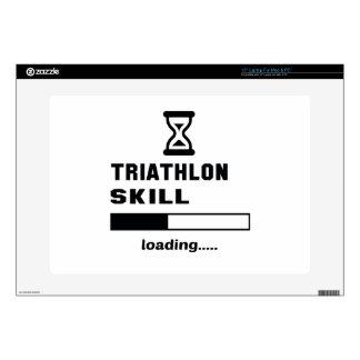 Triathlon skill Loading...... Laptop Decal