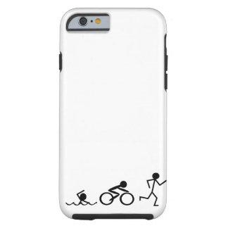 Triathlon Stick Figures Tough iPhone 6 Case