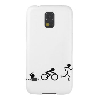 Triathlon Stick Figures Case For Galaxy S5