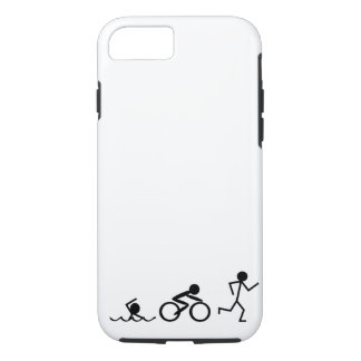Triathlon Stick Figures iPhone 8/7 Case
