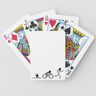 Triathlon Stick Figures Bicycle Playing Cards