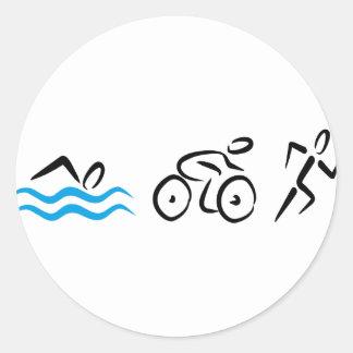 Triathlon Runder Sticker