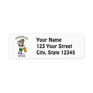 Triathlon Stud Return Address Label