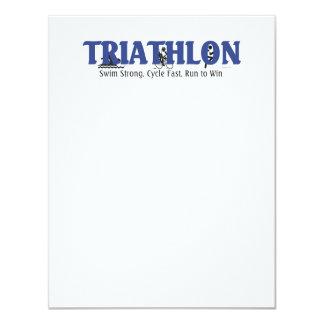 """Triathlon SUPERIOR Invitación 4.25"""" X 5.5"""""""