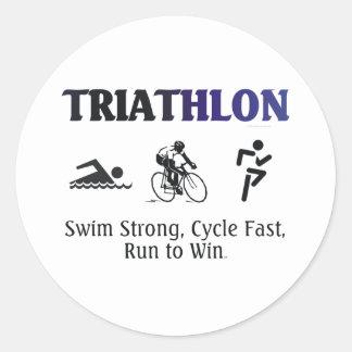 Triathlon SUPERIOR Pegatinas Redondas