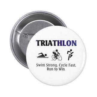 Triathlon SUPERIOR Pin Redondo 5 Cm