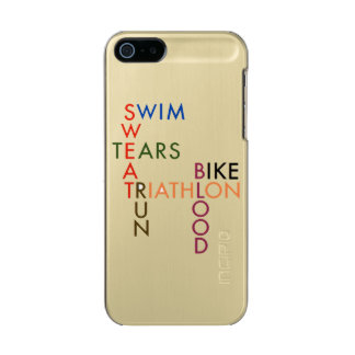 Triathlon Swim Bike Run Blood Sweat Tears Metallic iPhone SE/5/5s Case