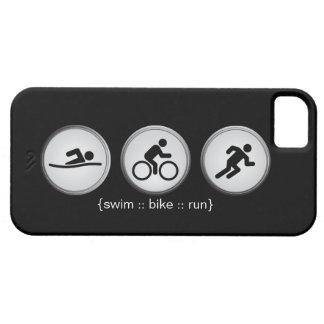 Triathlon Swim-Bike-Run iPhone 5 Case (black)