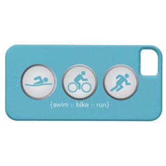 Triathlon Swim-Bike-Run iPhone 5 Case (grey)