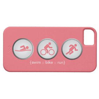 Triathlon Swim-Bike-Run iPhone 5 Case (rose)