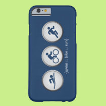Triathlon Swim-Bike-Run iPhone 6 case (navy)