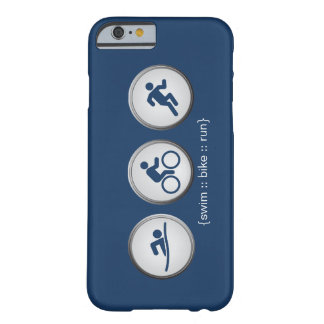 Triathlon Swim-Bike-Run iPhone 6 case (navy)