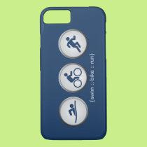 Triathlon Swim-Bike-Run iPhone 7 case (navy)