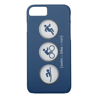 Triathlon Swim-Bike-Run iPhone 7 case (navy)
