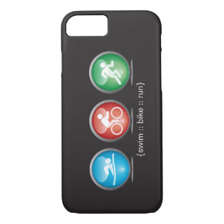 Triathlon Swim-Bike-Run iPhone 7 case (white)