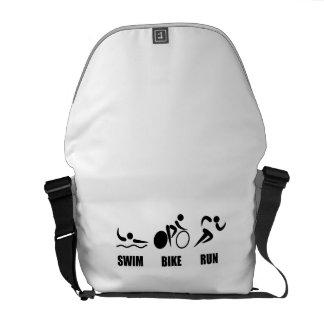 Triathlon Swim Bike Run Messenger Bags