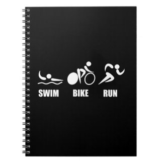 Triathlon Swim Bike Run Spiral Notebooks