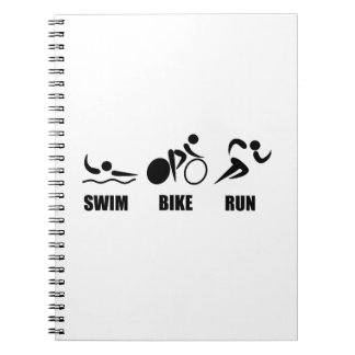 Triathlon Swim Bike Run Note Books