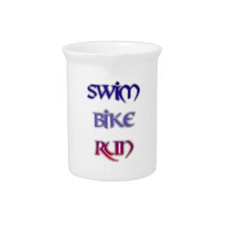 Triathlon Swim Bike Run Pitcher
