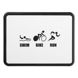 Triathlon Swim Bike Run Trailer Hitch Cover