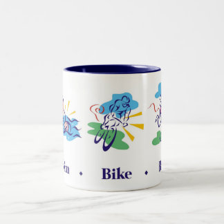 Triathlon - Swim Bike Run Two-Tone Coffee Mug