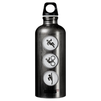 Triathlon SWIM-CYCLE-RUN (slate) Water Bottle