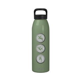 Triathlon SWIM-CYCLE-RUN Water Bottle (sage)