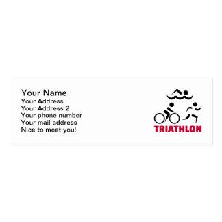 Triathlon Tarjetas De Visita Mini