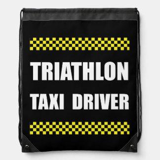 Triathlon Taxi Driver Drawstring Bag