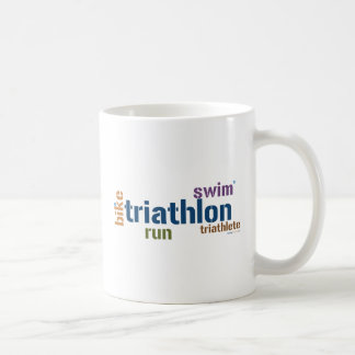 Triathlon Text Coffee Mug