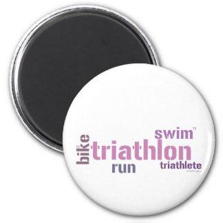 Triathlon Text Magnet