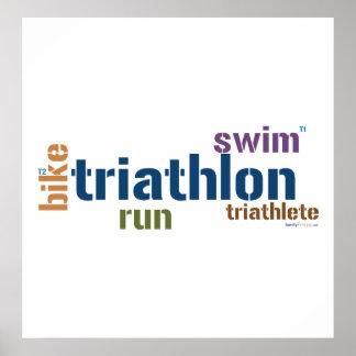 Triathlon Text Poster