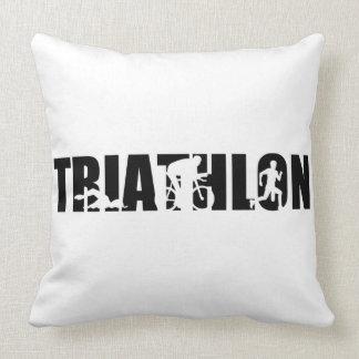 Triathlon Throw Pillow