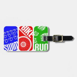 Triathlon TRI Color Blocks Bag Tag