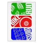 Triathlon TRI Color Blocks Cards