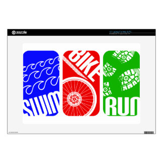 Triathlon TRI Color Blocks Laptop Skin