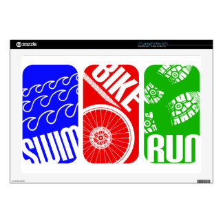 "Triathlon TRI Color Blocks Skin For 17"" Laptop"